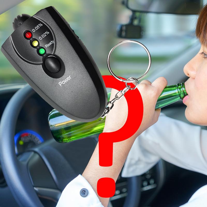 Джобен мини дрегер с ключодържател - бързо и лесно измерва нивото на алкохол в кръвта