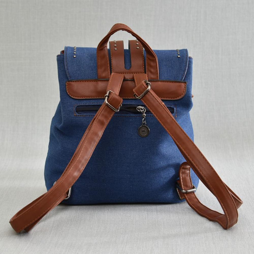 Дамска раница BLUE DREAM 2787 - текстил и еко кожа