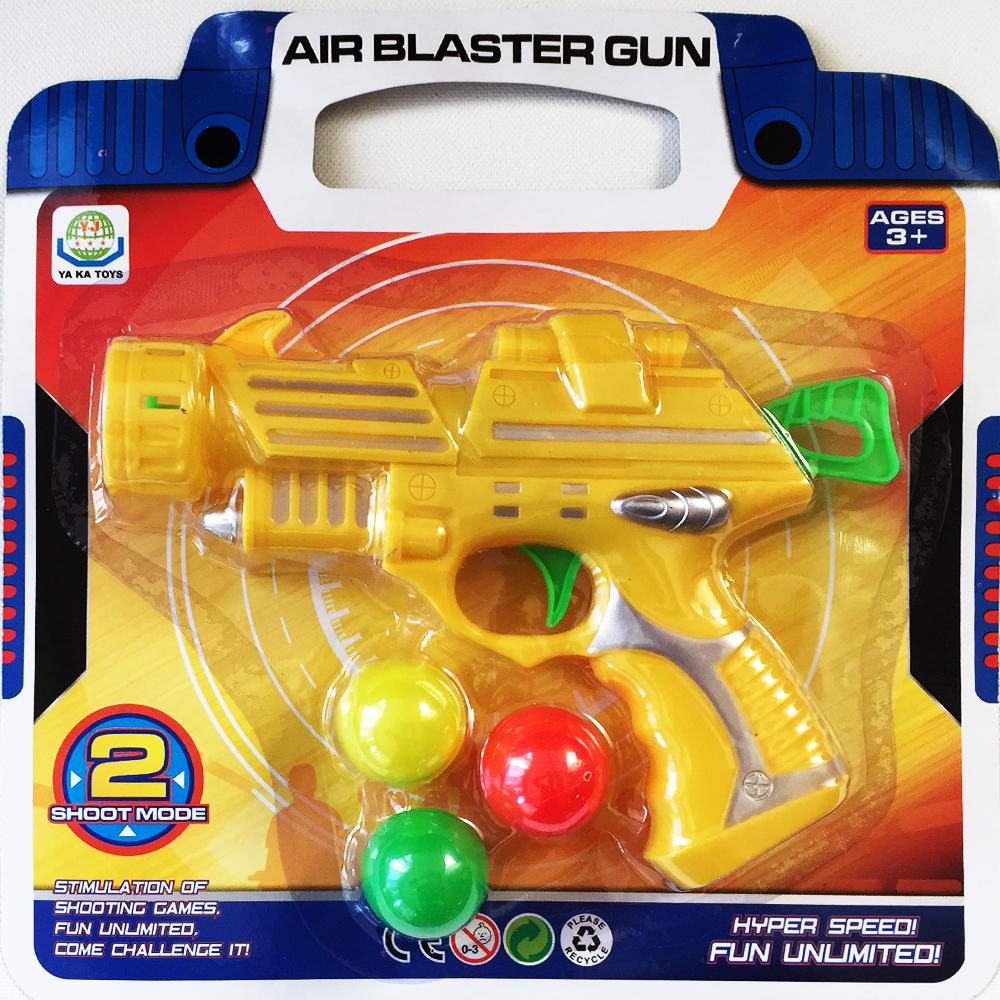 Чудесен лек и компактен пистолет  BALL GUN за стрелба с леки топчета, 3+