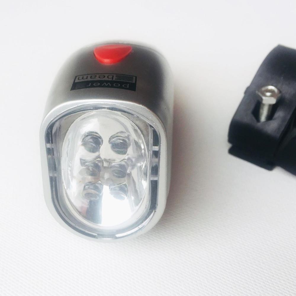 ТОП ПРОМО: вело LED фар FF201 на батерии със скоба и 2 режима на светене