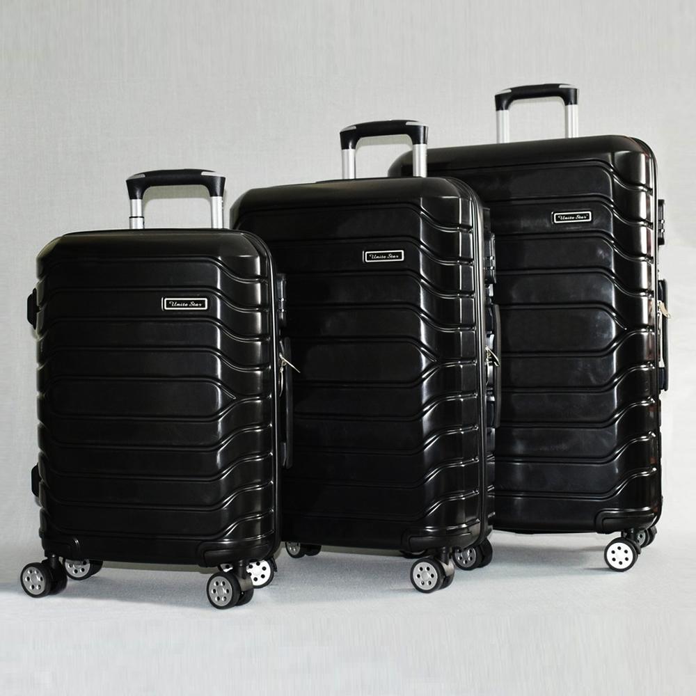 Комплект висок клас поликарбонови куфари BLACK UNIVERSE CARBON  31187, до изчерпване