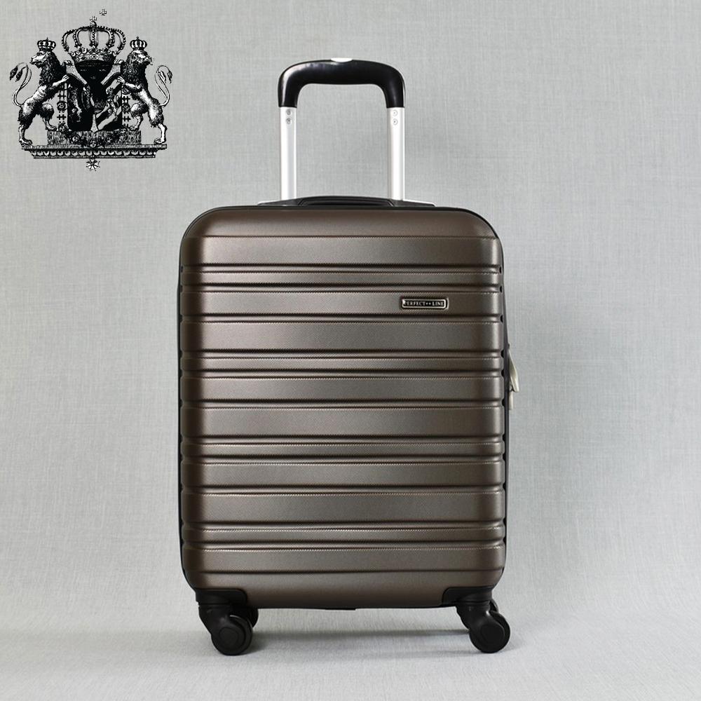 Класен ABS куфар - спинър за ръчен багаж 8094 ROYAL COFFEE 52/42/20, 2.4 кг.,всички екстри