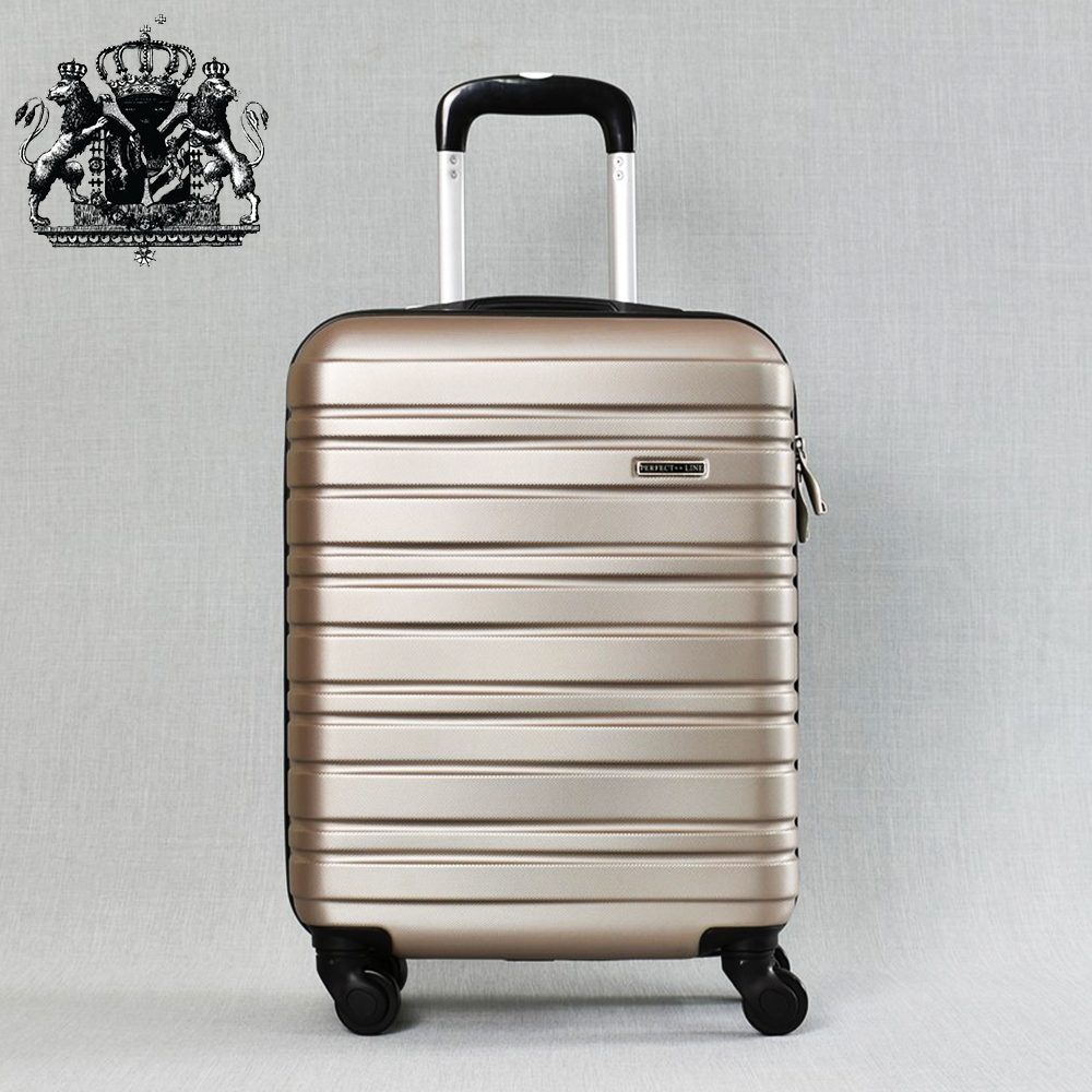 Класен ABS куфар - спинър за ръчен багаж 8094 ROYAL GOLD 52/42/20, 2.4 кг., всички екстри