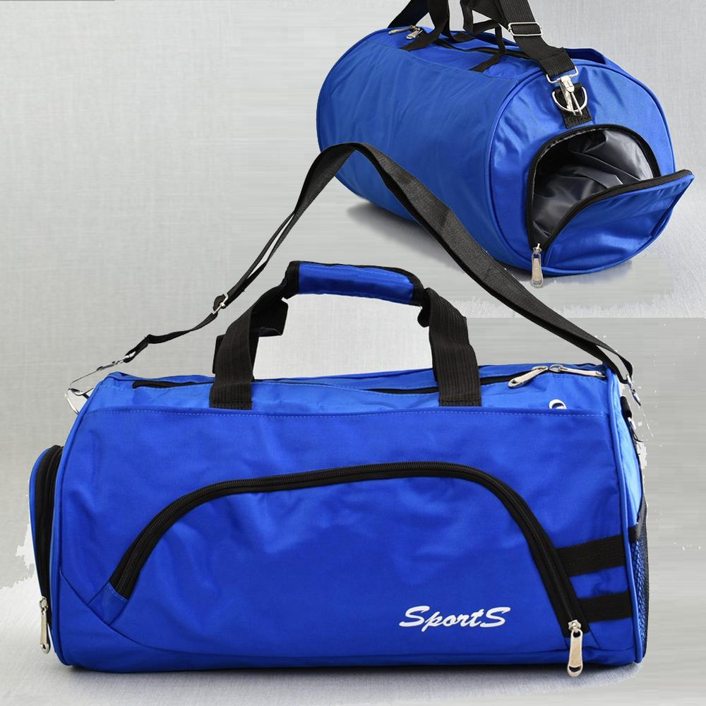Елегантен спортен сак SPORTS 181812 BLUE с изолирано отделение за обувки и бельо
