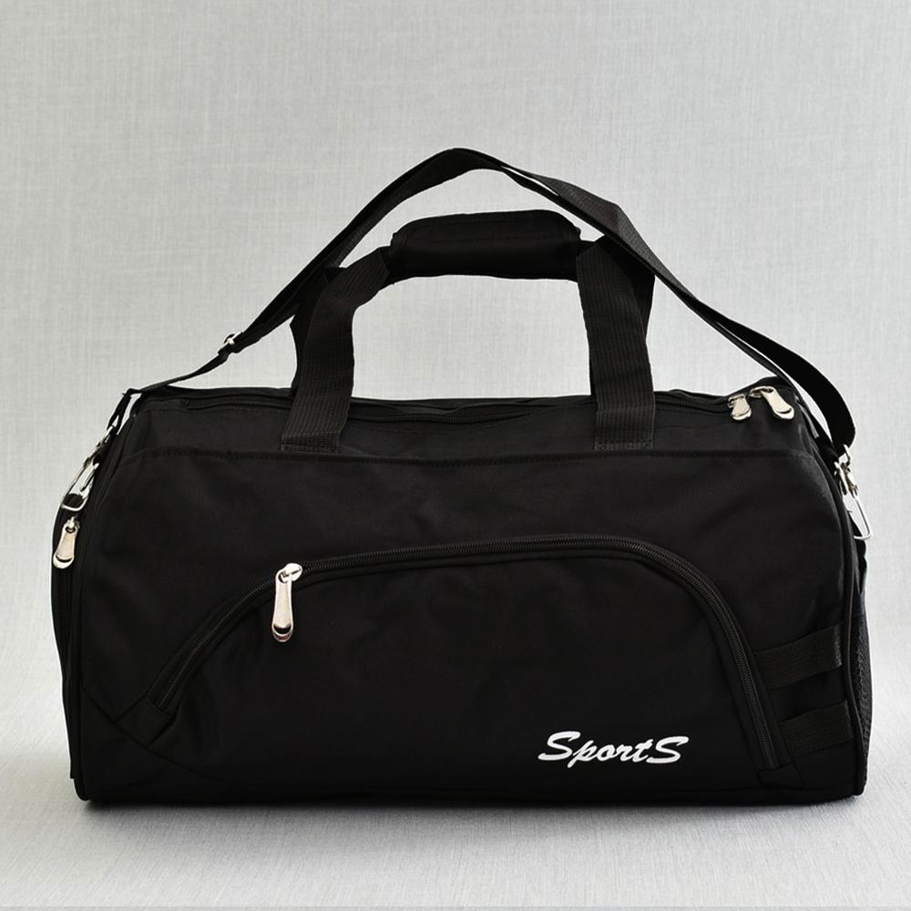 Елегантен спортен сак SPORTS 181812 BLACK с изолирано отделение за обувки и бельо