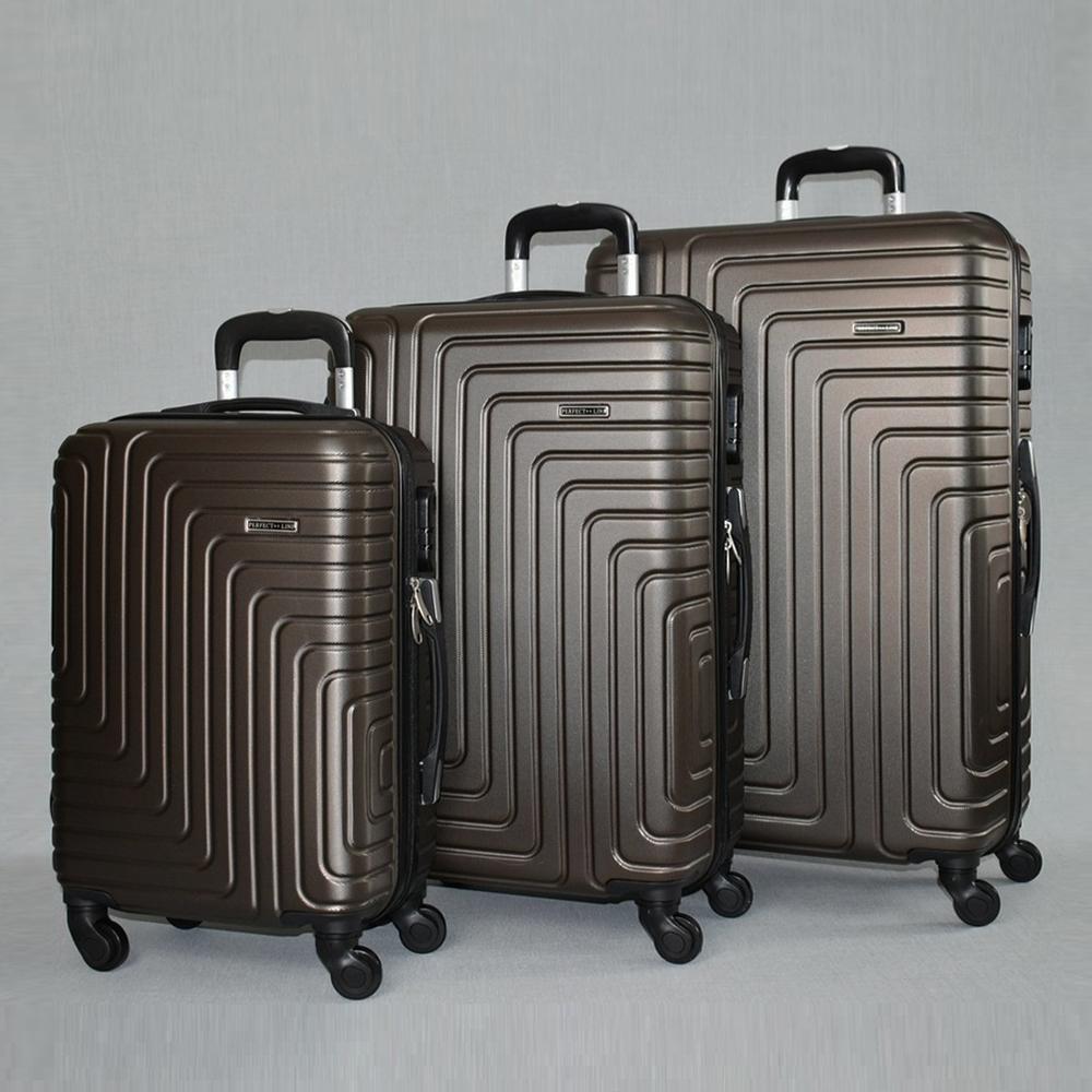 88a7a4cb944 Комплект твърди и леки бизнес клас куфари - спинъри с всички екстри  QUADARAL 8071 BROWN