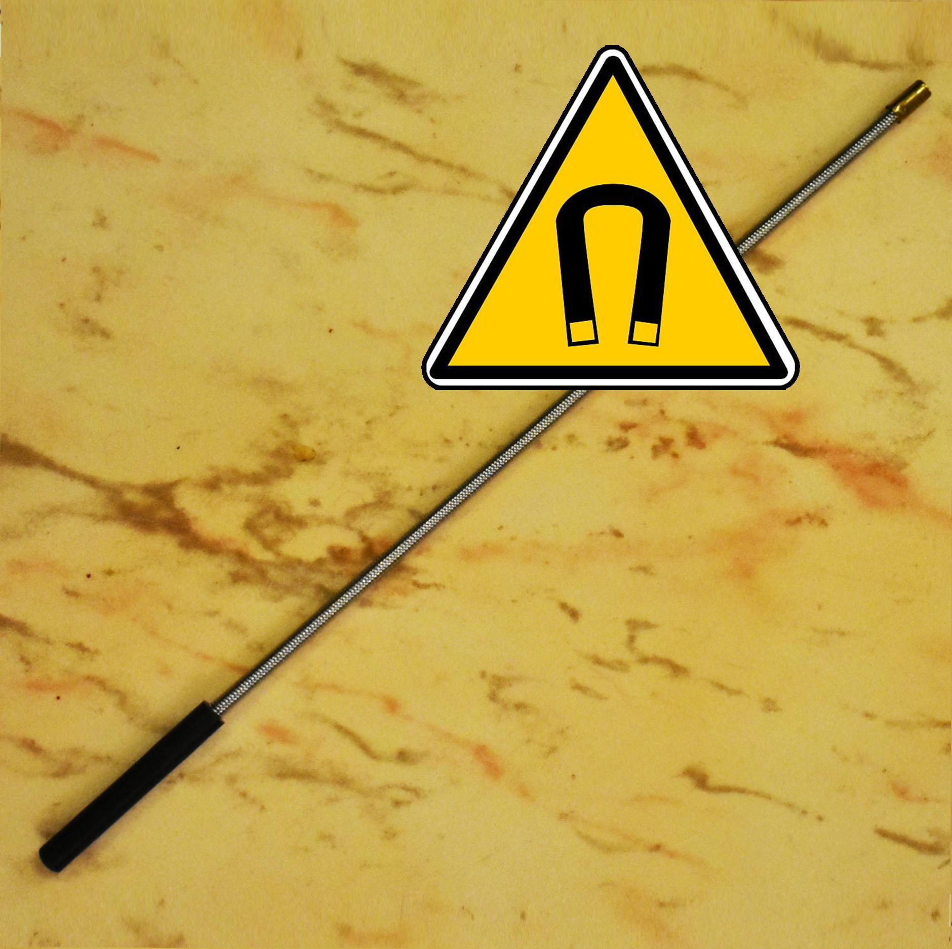 Магнитна ръка: гъвкав магнитен стик MAG 196 събира гайки от труднодостъпни места, 40 см.