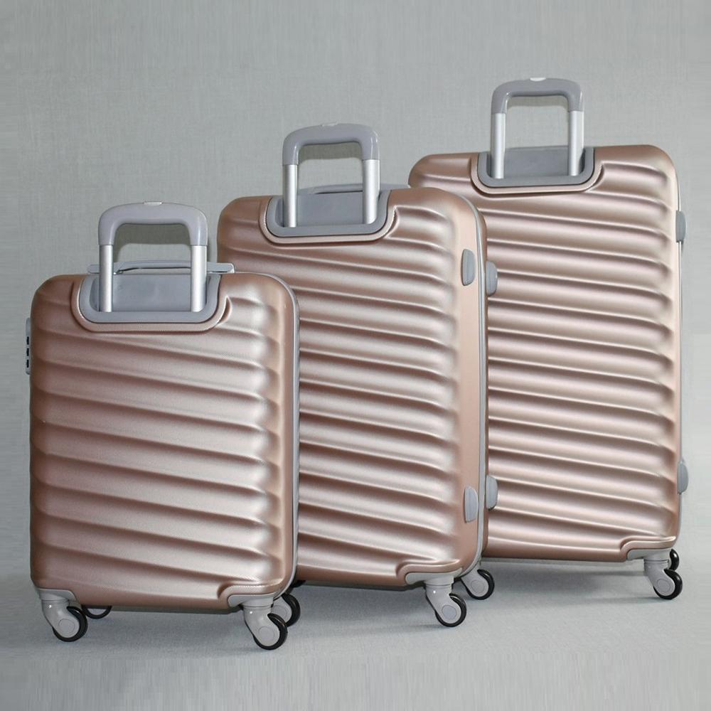 40507852753 Комплект твърди и леки куфари - спинъри с всички екстри ART LINE 8091 ROSE,  ABS