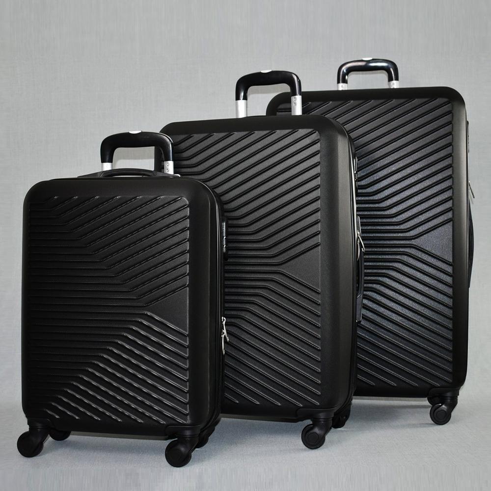 ЛИКВИДАЦИЯ: комплект твърди и леки куфари с всички екстри Urban LINE 8092 BLACK, ABS