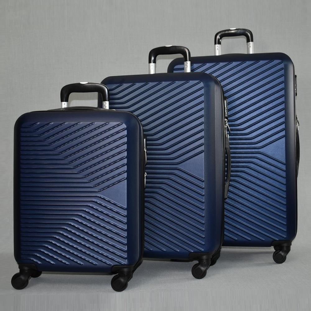 ЛИКВИДАЦИЯ: комплект твърди и леки куфари с всички екстри Urban LINE 8092 BLUE, ABS