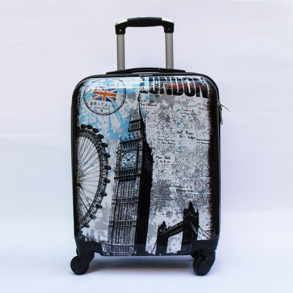 Куфар-спинър за ръчен багаж GREAT BRITAIN 910 LIMITED, поликарбон, LONDON BRIDGE & TOWER