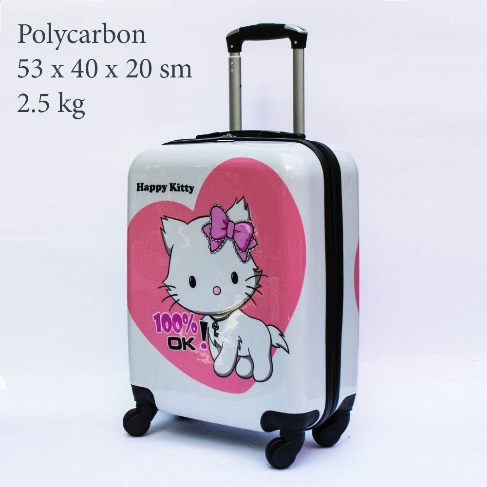 Куфар-спинър за ръчен багаж GREAT BRITAIN 910 LIMITED, поликарбон, HELLO KITTY