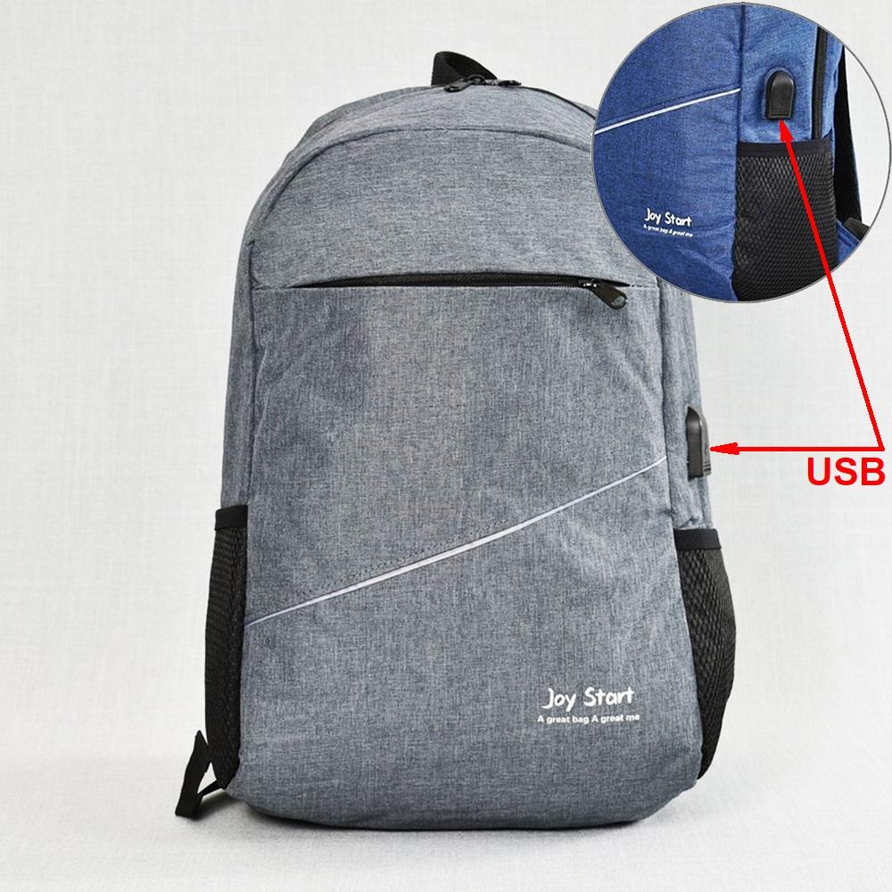 Лека защитена USB раница за лаптоп  JPY START 31590 GREY
