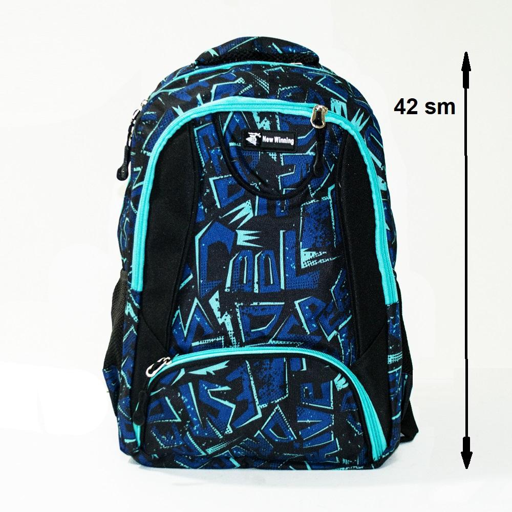 Здрава ученическа раница MARVEL NEW WINNING 3454 BLUE SKATE, 42 см, за туризъм и спорт