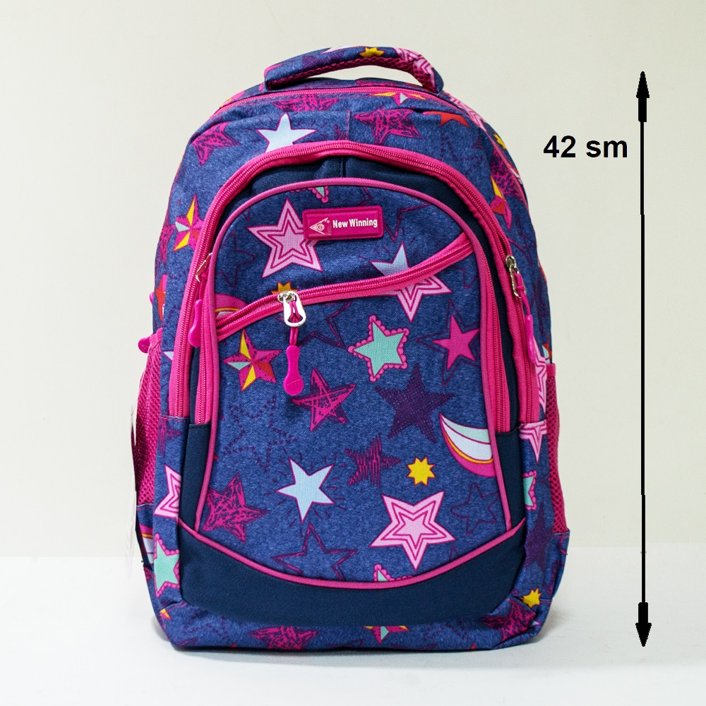 Здрава ученическа раница MARVEL NEW WINNING 3461 MAGIC STARS, 42 см, за туризъм и спорт