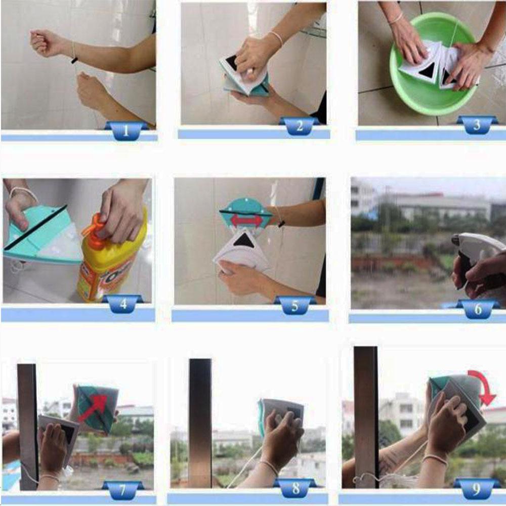 Двустранна магнитна чистачка за прозорци отвътре и отвън  Magnetic Window Cleaner