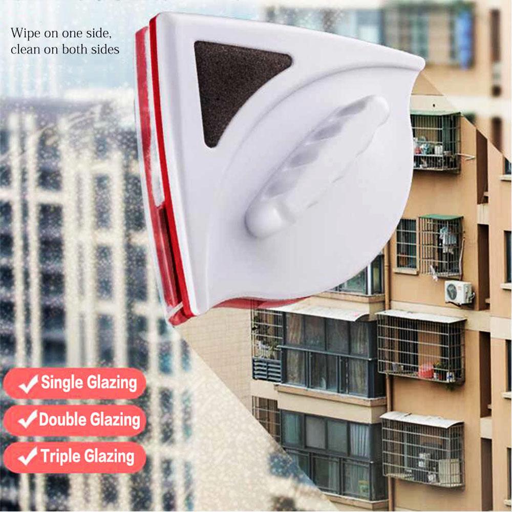 Двустранна магнитна чистачка за прозорци отвътре и отвън  Magnetic Window Cleaner до 8 мм