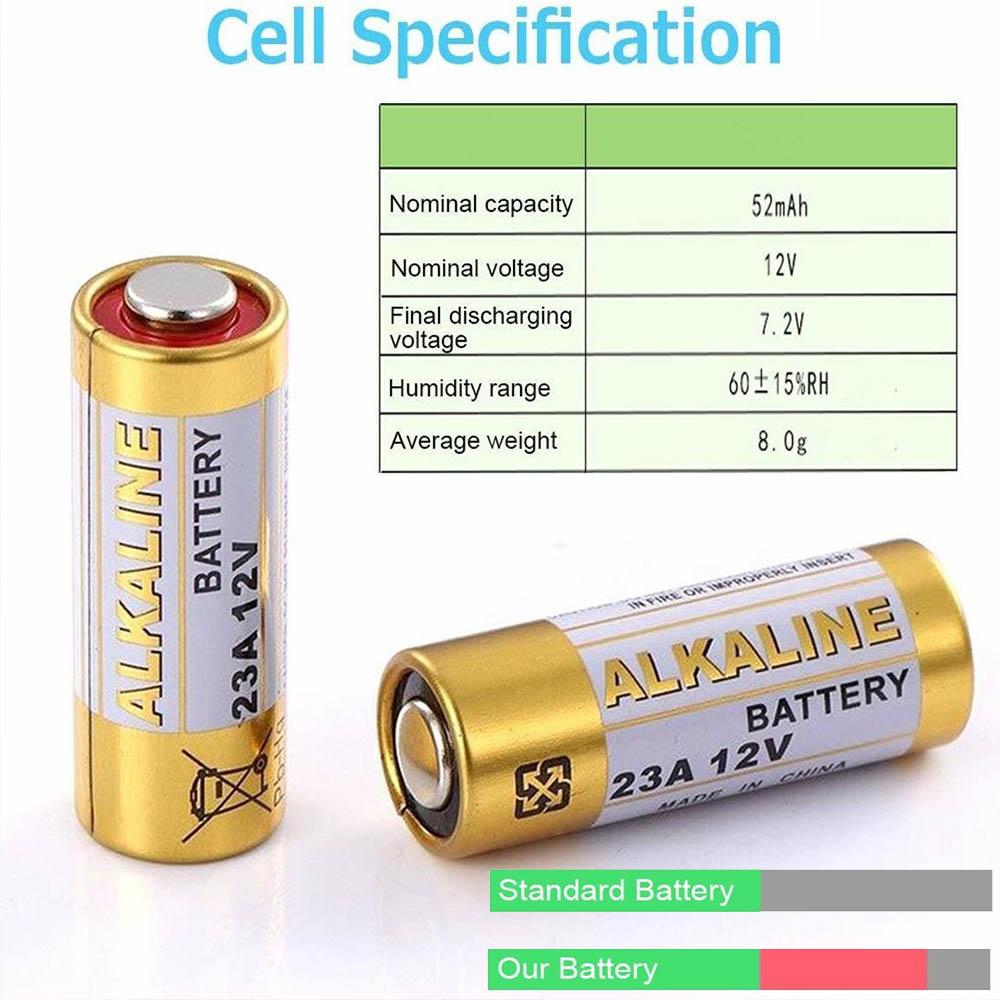 Алкална батерия за дистанционно на авто аларма 23А 12V 52mAh