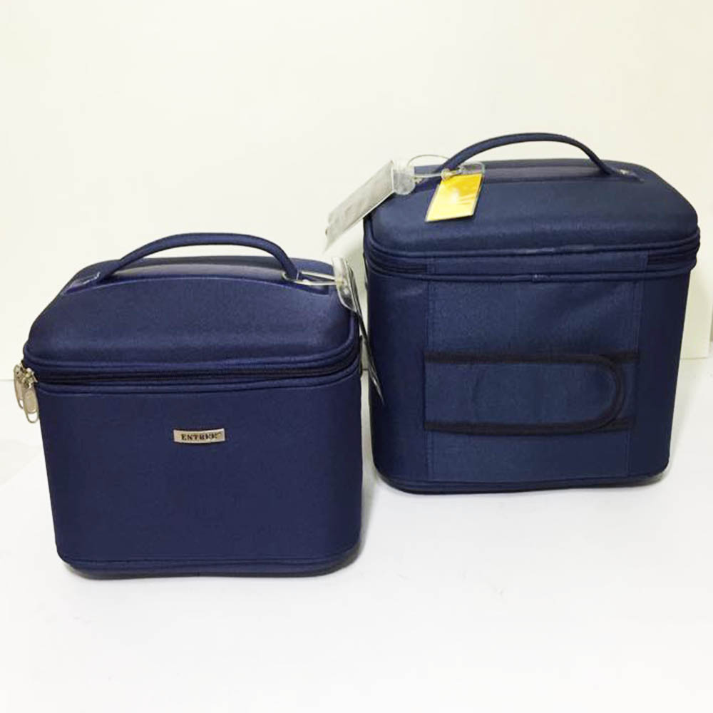 33650668162 Комплект 2 супер луксозни пътни чанти за козметика, бельо и лични вещи  ENTREE PRO BLUE