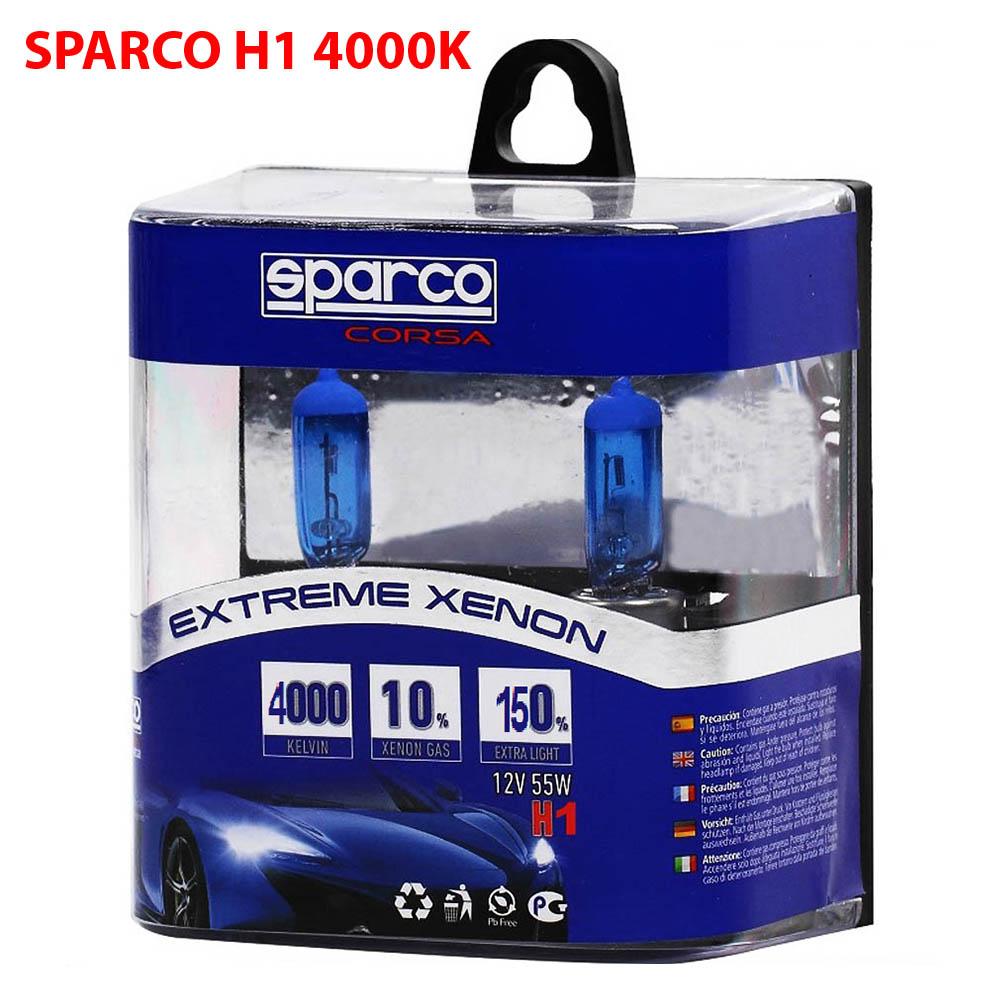 2 Броя SPARCO EXTREME XENON Авто Крушки H1 12V 55W 4000K 10% Xenon Gas