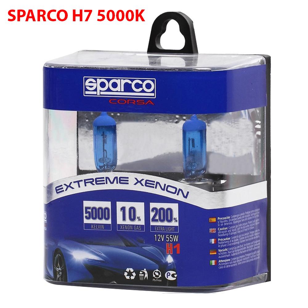 2 Броя SPARCO EXTREME XENON Авто Крушки H1 12V 55W 5000K 10% Xenon Gas