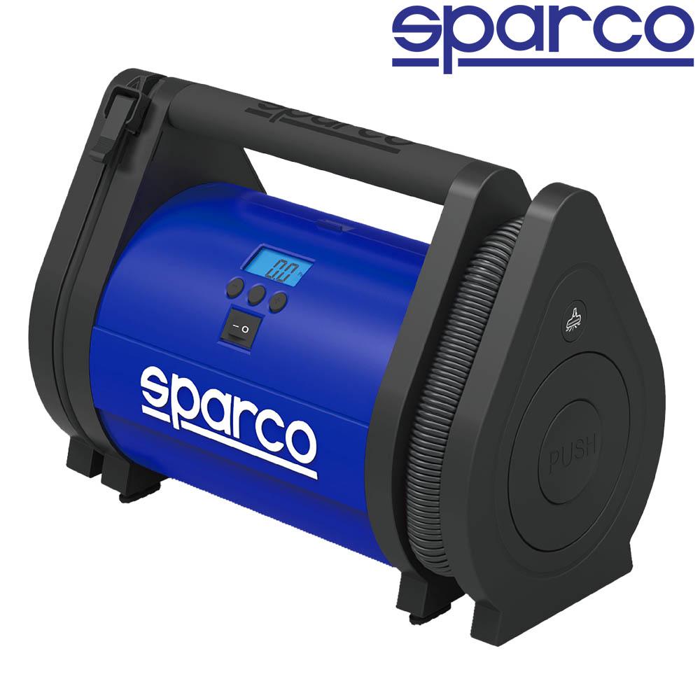 ТОП автокомпресор SPARCO  #160 2 in 1 с вграден манометър и LED светлини