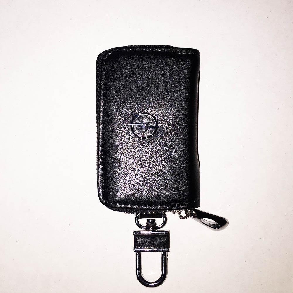Луксозен ключодържател OPEL с калъф за ключовете, естествена кожа