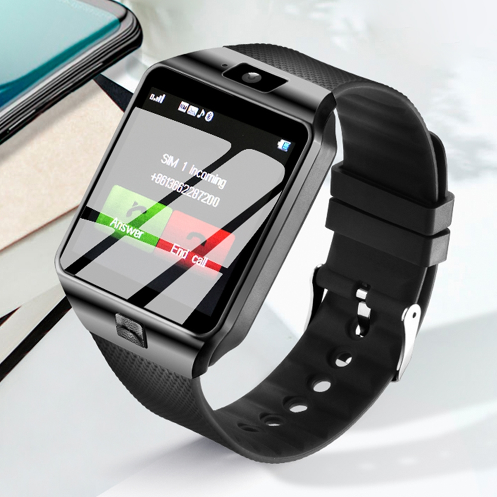 Смарт часовник - телефон DZ09 BLACK със SIM карта, слот за памет, блутут, камера
