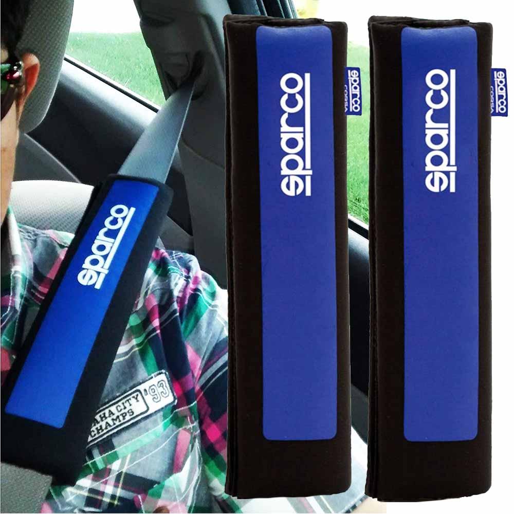 Два SPARCO спортни протектора за авто колани SPC1201 BLUE