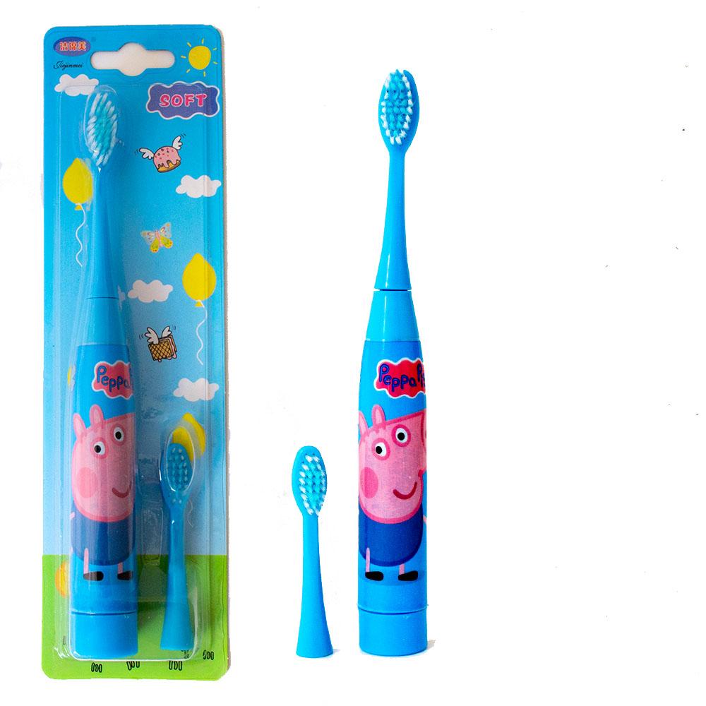 Детска ултразвукова ел.четка за зъби PEPPA с резервна глава SOFT, прасенцето Пепа и Джордж