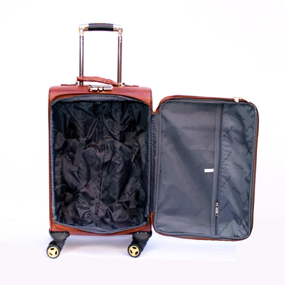 Kожен куфар PILOT HANDLE PH01 M-BLACK, M размер 58x36x22