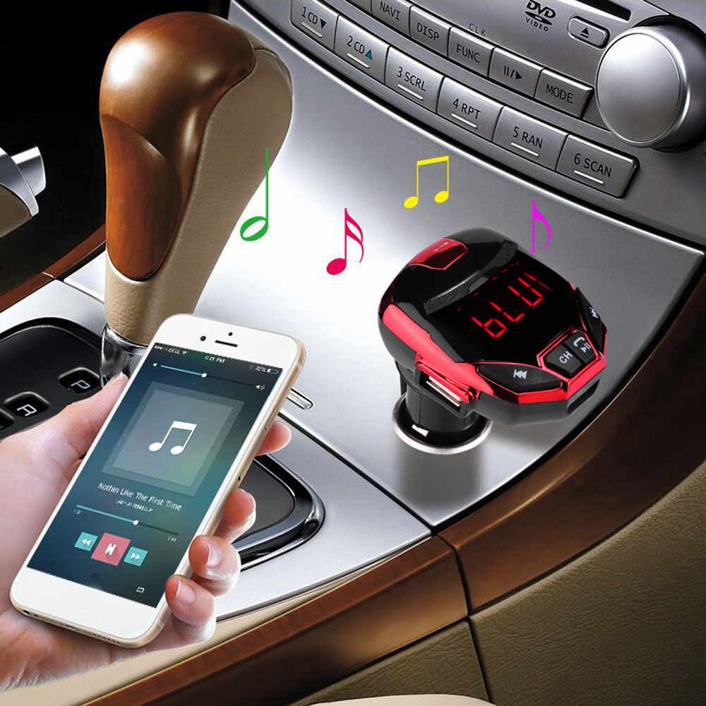 Двоен FM авто аудио трансмитер IRON MAN, с 2 USB за 12V/24V