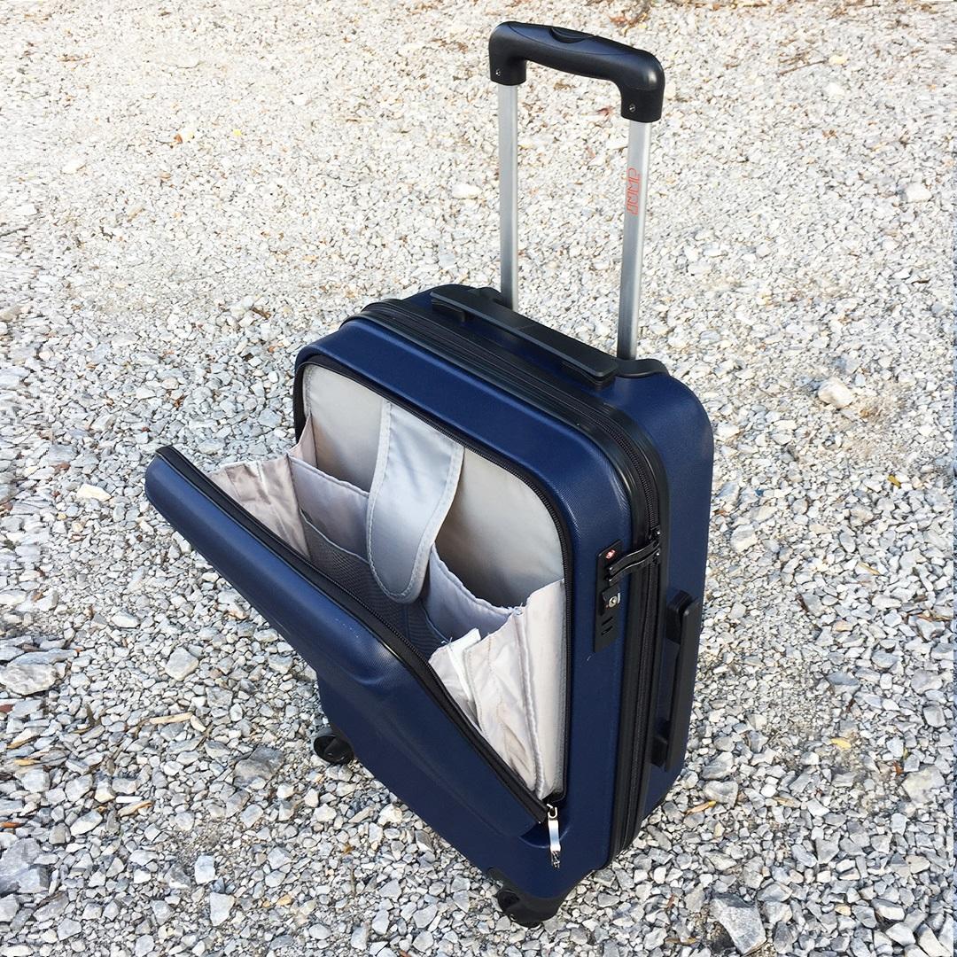 Куфар с отделение за лаптоп UNIWALKER BUSINESS BLUE, 55 x 37 x 24 см