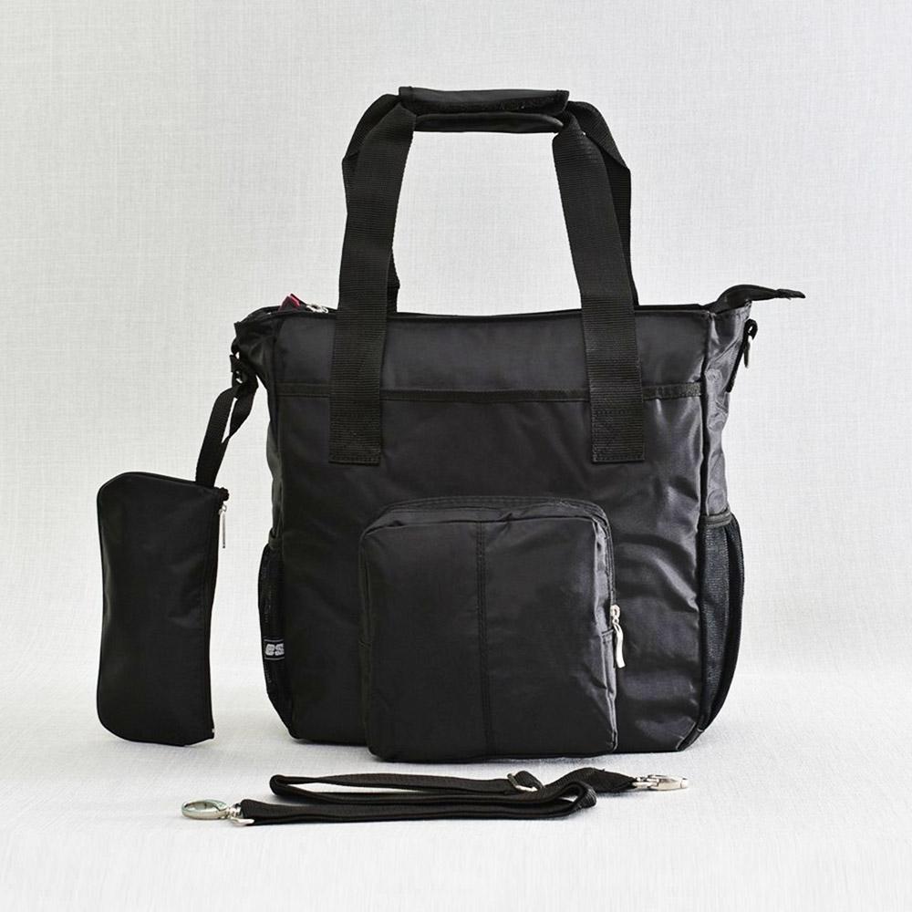 СУПЕР ПРОМО: здрава дамска чанта FSHN 13-23 BLACK с портмоне и отделение за лаптоп