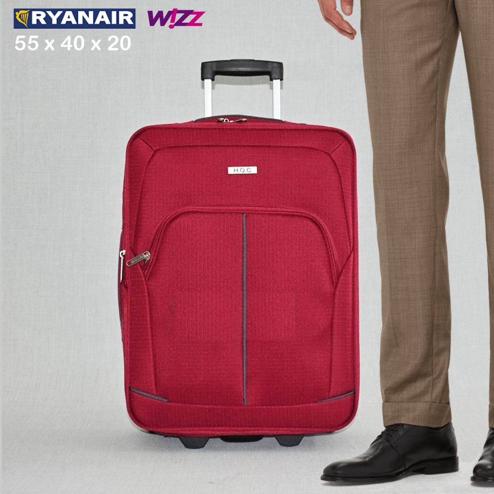 BF SALE: разширяващ се куфар HQC 1710-1 RED за ръчен багаж, 55х40х20 см
