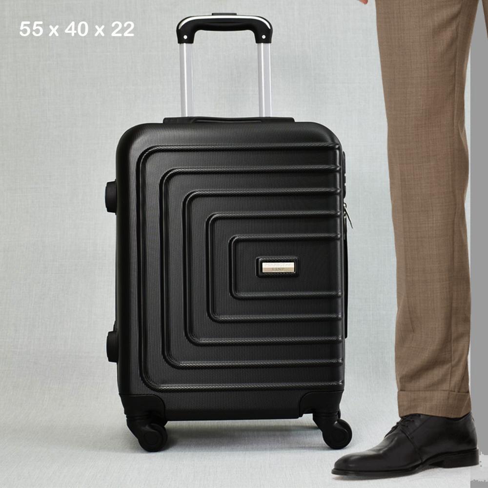 ТОП ЦЕНА:  ABS спинър за ръчен багаж PL107 BLACK, 55x40x22, пластмаса