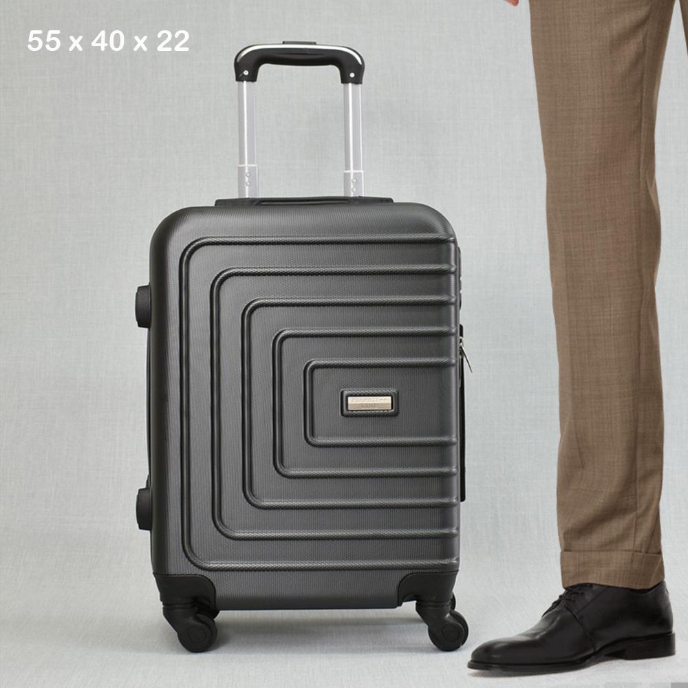 ТОП ЦЕНА: ABS спинър за ръчен багаж PL107 GRAPHITE, 55x40x22, пластмаса