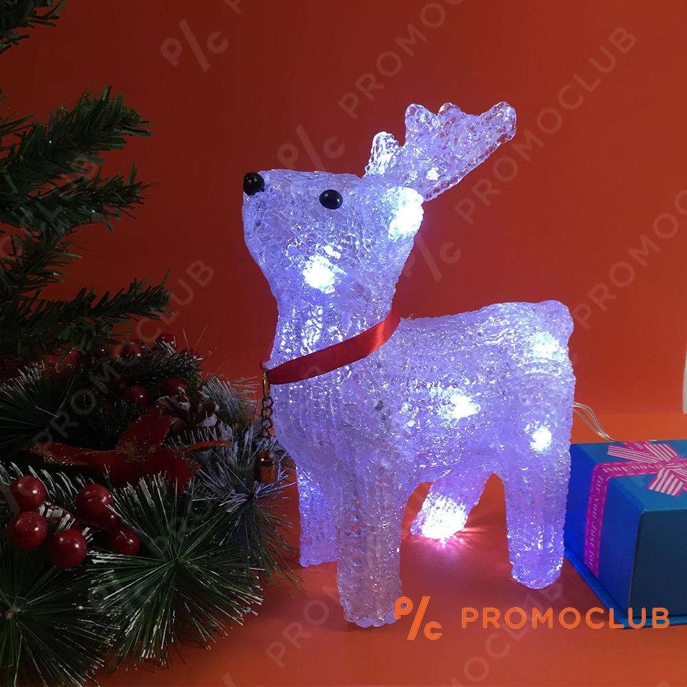 Елегантен светещ коледен елен D15-178, 10 режима на светене, височина 23 см.