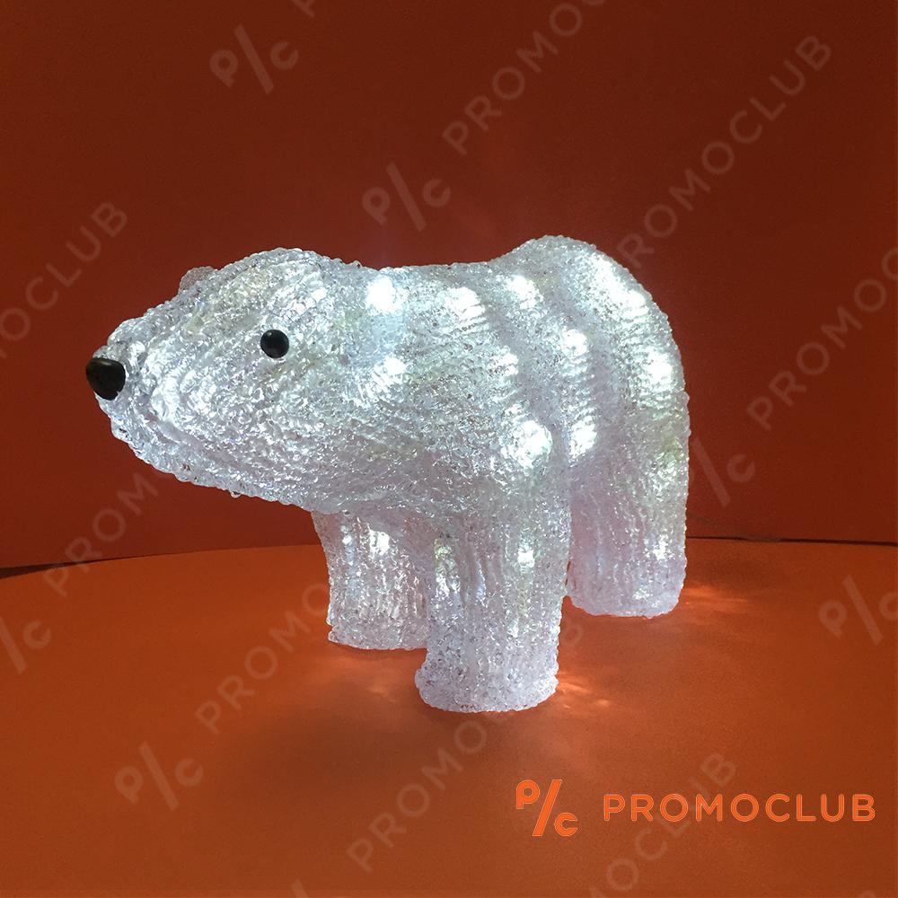 Голяма коледна полярна мечка BEAR MAMA D15-186, 10 режима на светене, височина 24 см