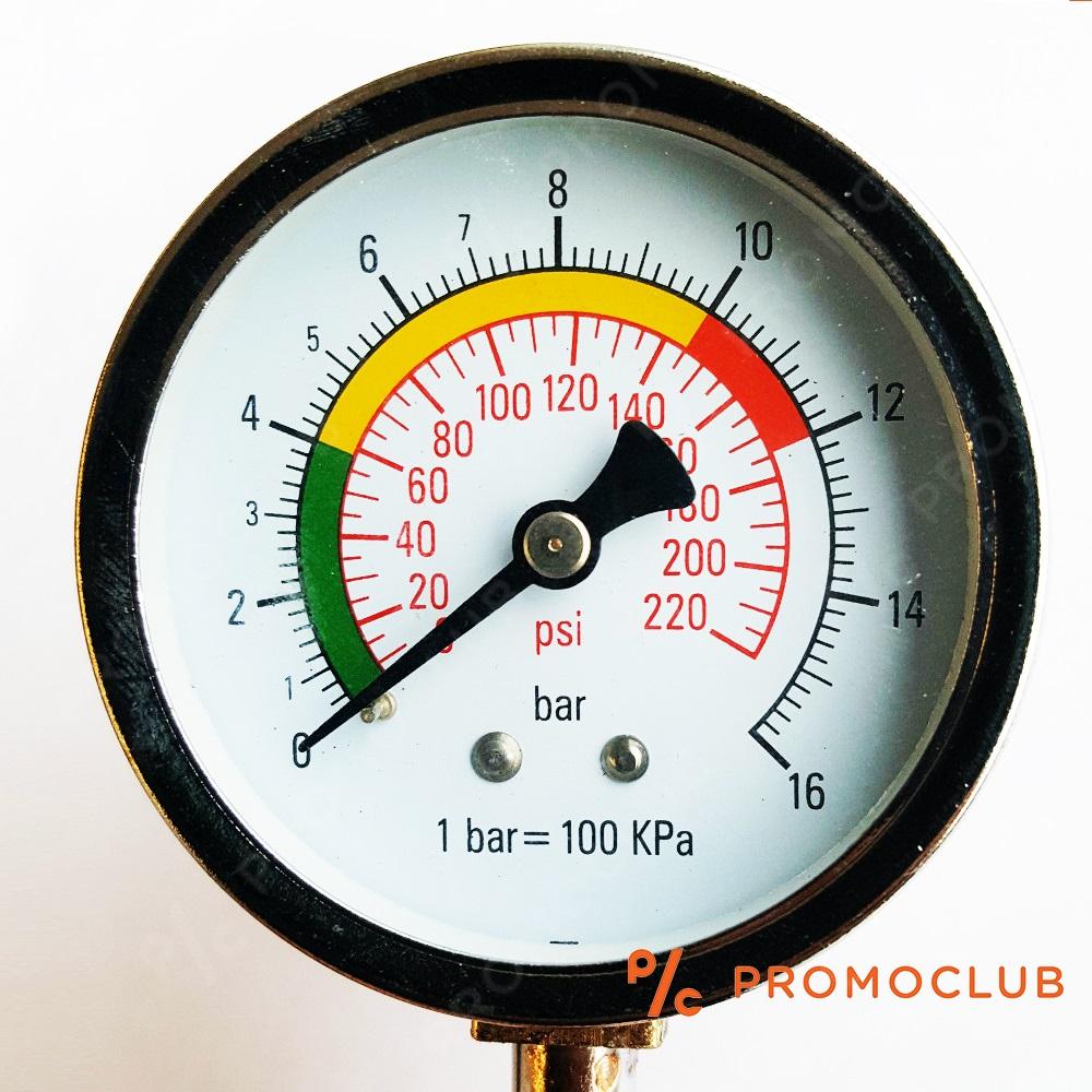 Професионален метален авто манометър TYRE 3034 до 16 Bar/1600 kPa