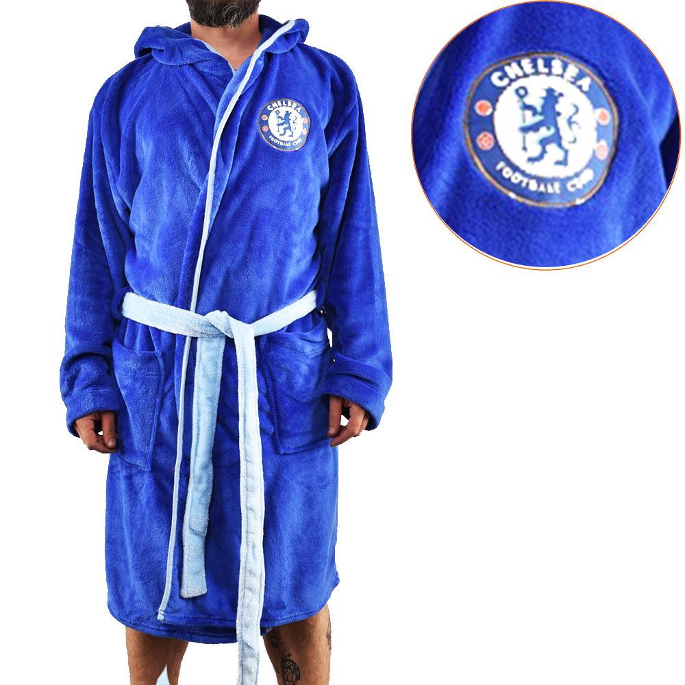 Мъжки халат на Футболен клуб ЧЕЛСИ, син, L размер