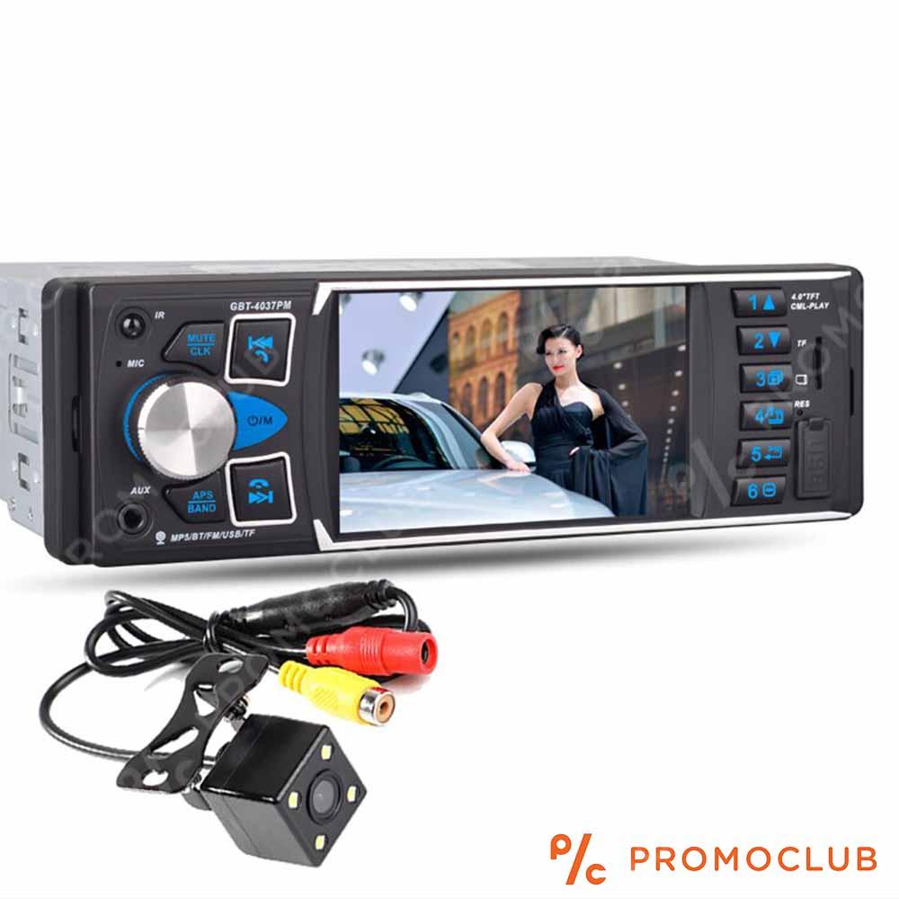 Мощна MP5 авто-аудио-видео система 4037PM Bluetooth, 4x50W, HANDSFREE, back camera AUX
