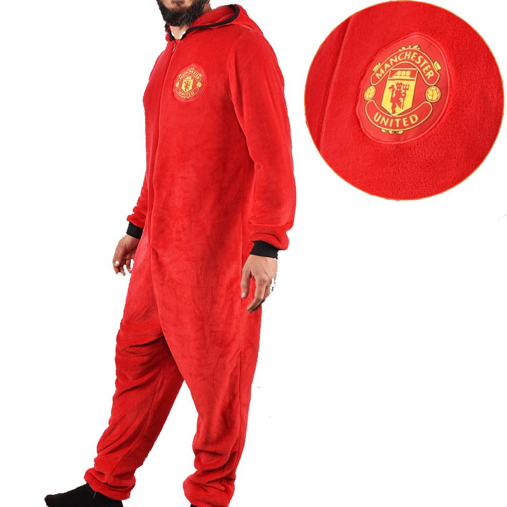 Мъжки гащеризон на Футболен клуб Манчестър Юнайтед, червен, S размер