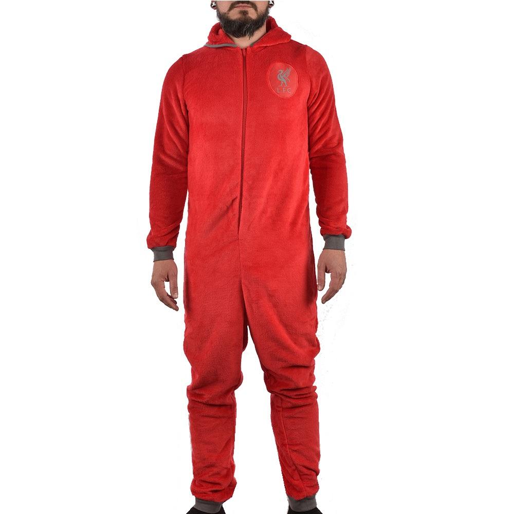 Мъжки гащеризон на Футболен клуб LIVERPOOL, червен, размер S