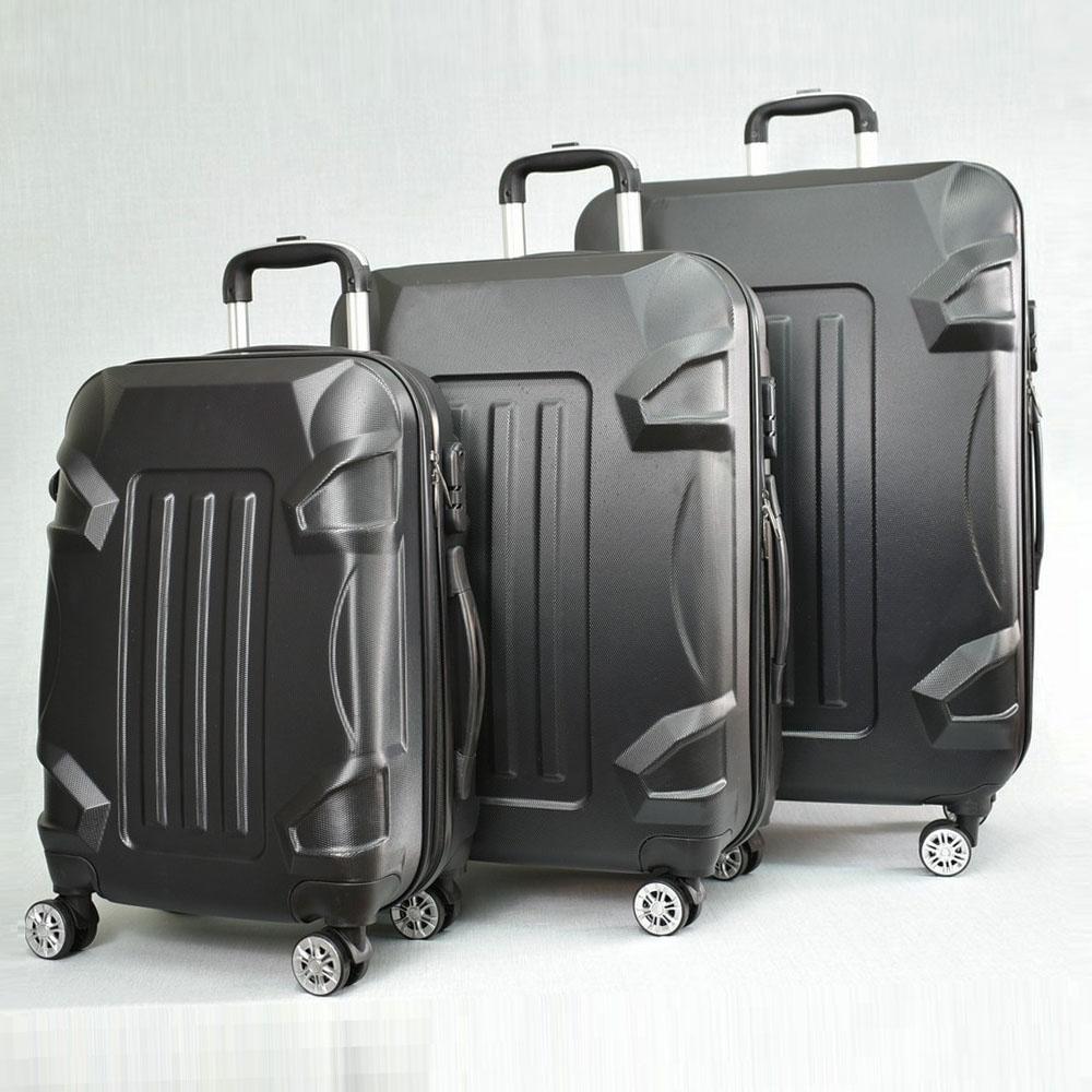 BF SALE: 3 броя куфари: твърди, здрави и леки пластмасови спинъри 16011 BLACK,  С ДОСТАВКА