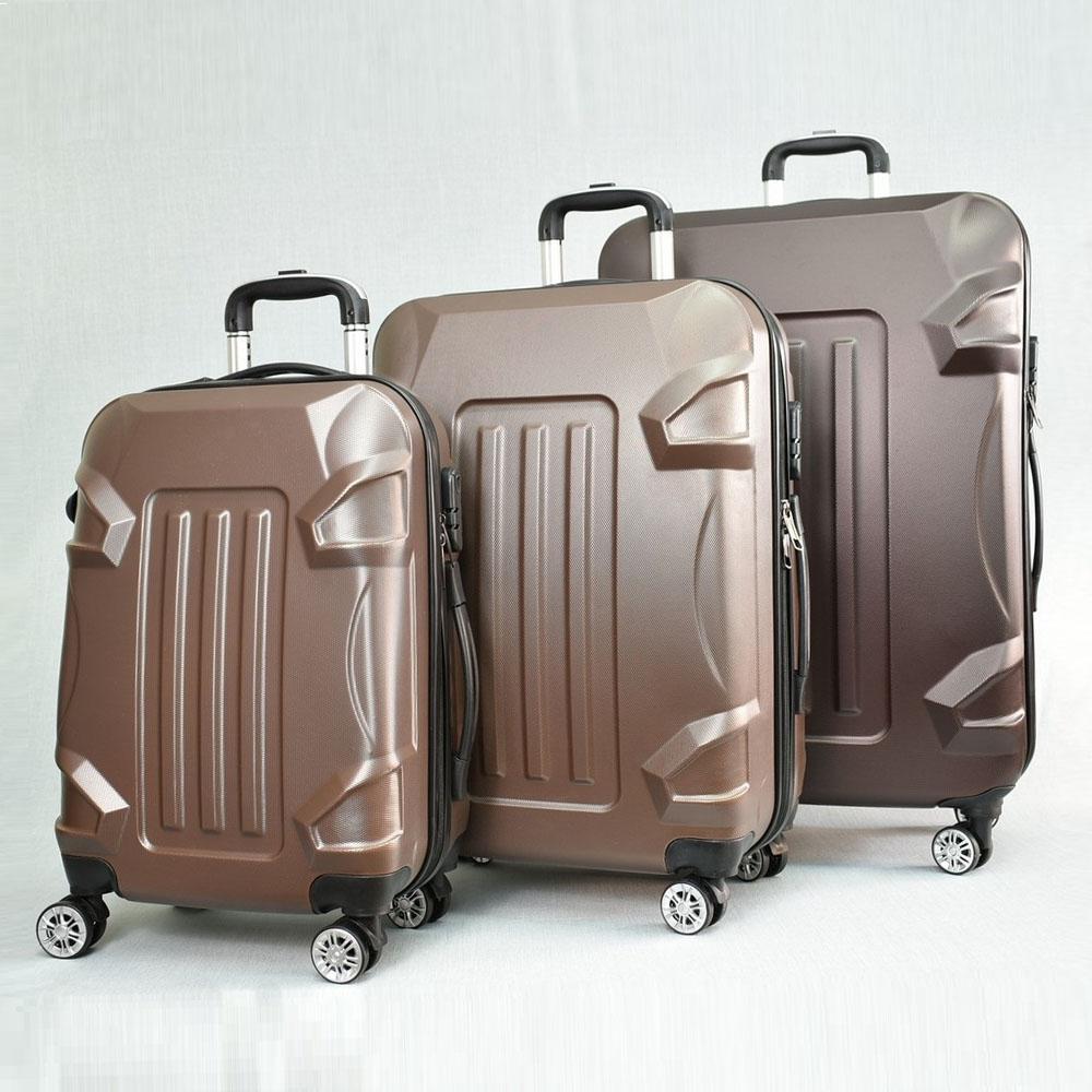 BF SALE: 3 броя куфари: твърди, здрави и леки пластмасови спинъри 16011 COFFEE, С ДОСТАВКА