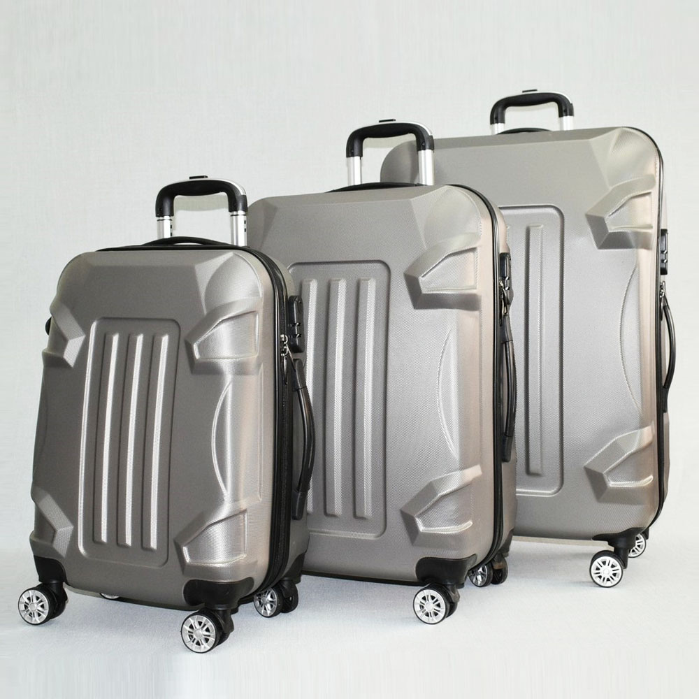 BF SALE: 3 броя куфари: твърди, здрави и леки пластмасови спинъри 16011 GREY, С ДОСТАВКА