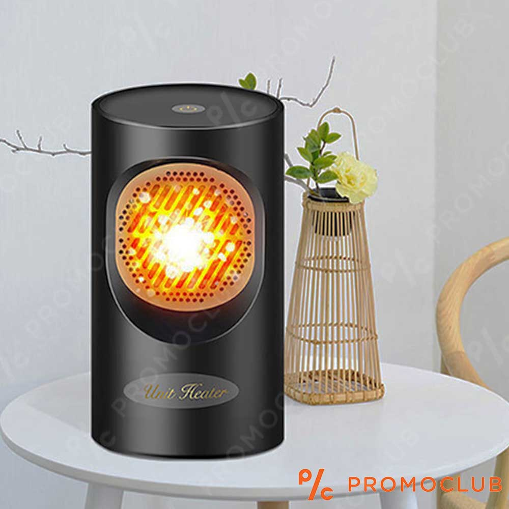 Стилна, практична, икономична настолна вентилаторна печка 350W WARM AIR BLOWER BLACK