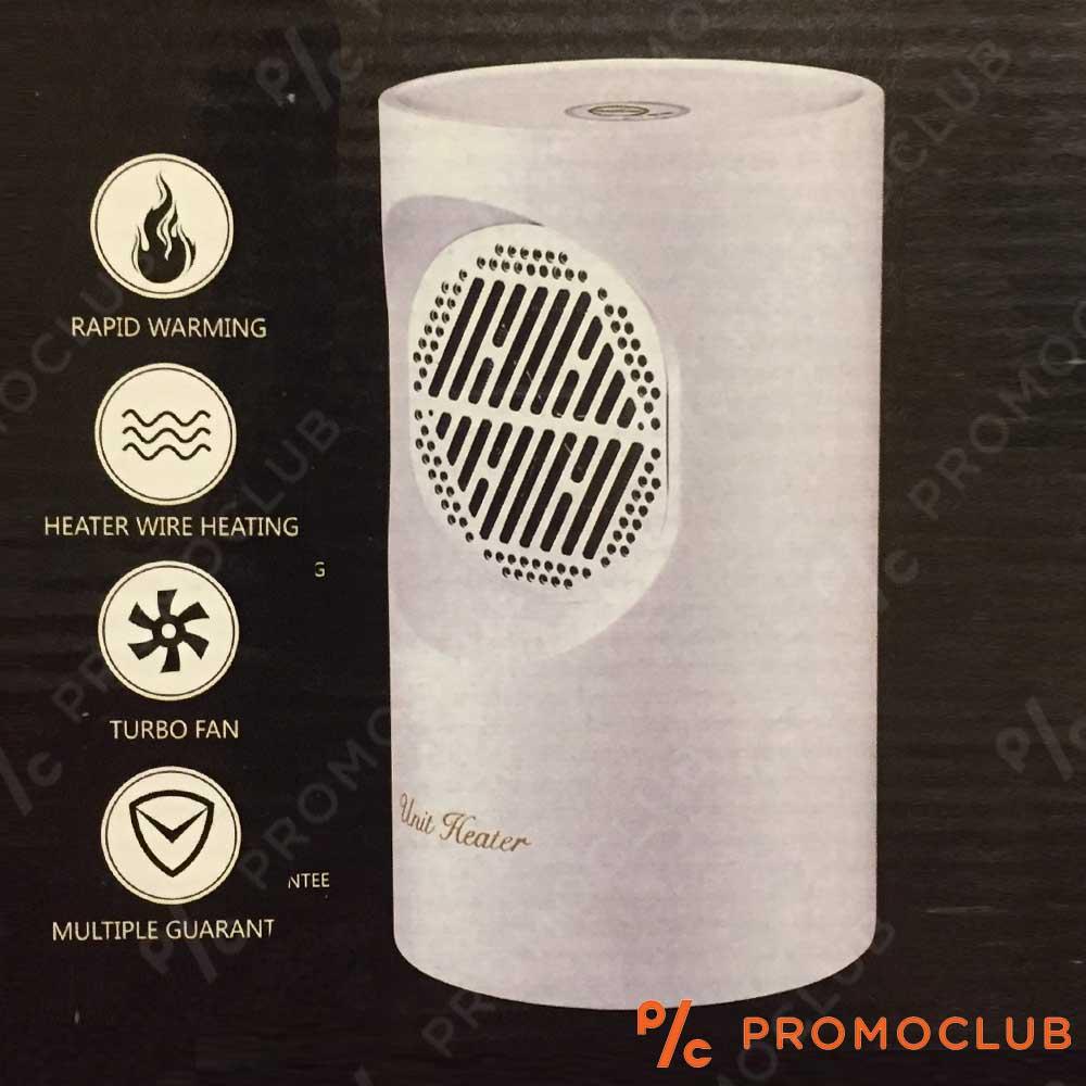 Стилна, практична, икономична настолна вентилаторна печка 350W WARM AIR BLOWER WHITE