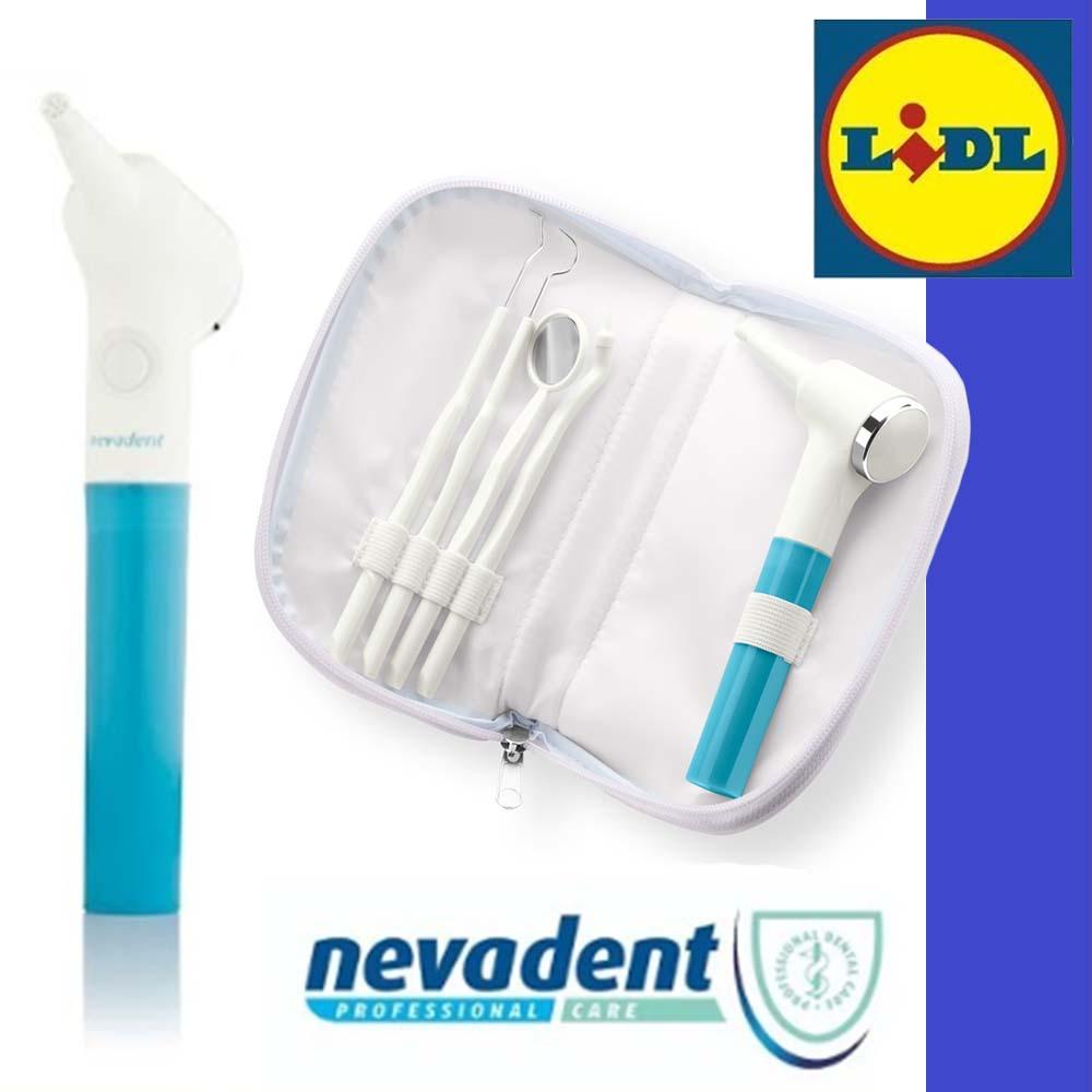 Пълен комплект за полиране на зъбите NEVADENT, накрайници, инструменти, несесер, от LIDL